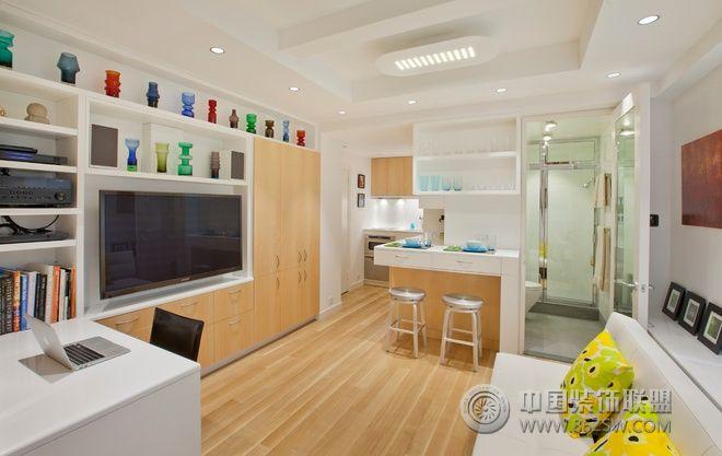 33平简约实木极品公寓-客厅装修图片