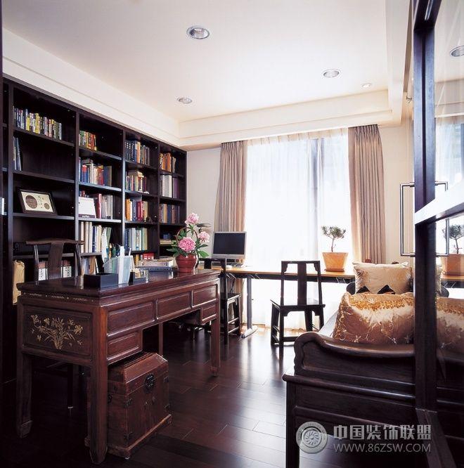 138平中式禅风三居雅居-书房装修效果图-八六(中国)
