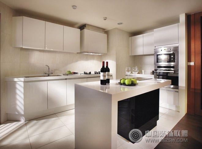 134平现代时尚公寓-厨房装修图片