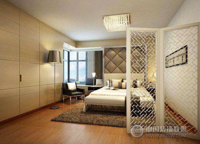 最新卧室隔断设计现代卧室装修图片
