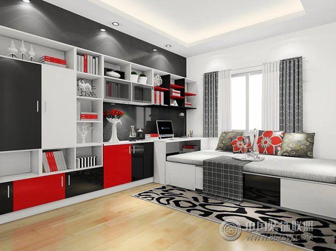 最新榻榻米书房设计简约卧室装修图片
