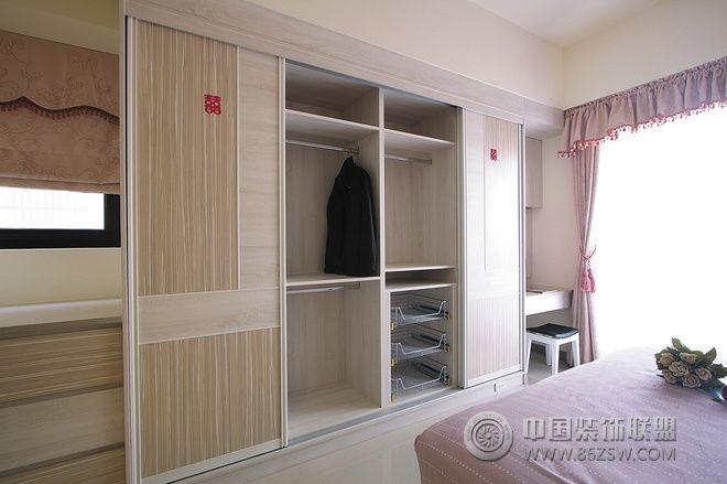 140平简约实木温馨婚房-书房装修效果图-八六装饰网