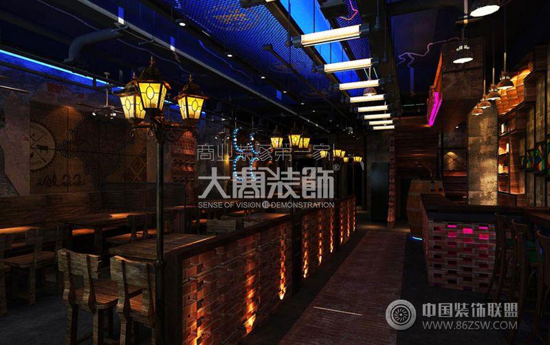 阿里巴巴吧式烧烤_餐馆装修效果图_八六(中国)装饰(86