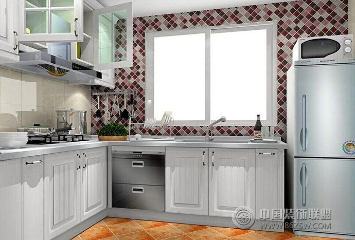 最新厨房空间布局设计_现代大户型装修效果图_八六()
