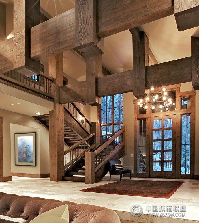 最新楼梯设计欧式风格过道装修效果图