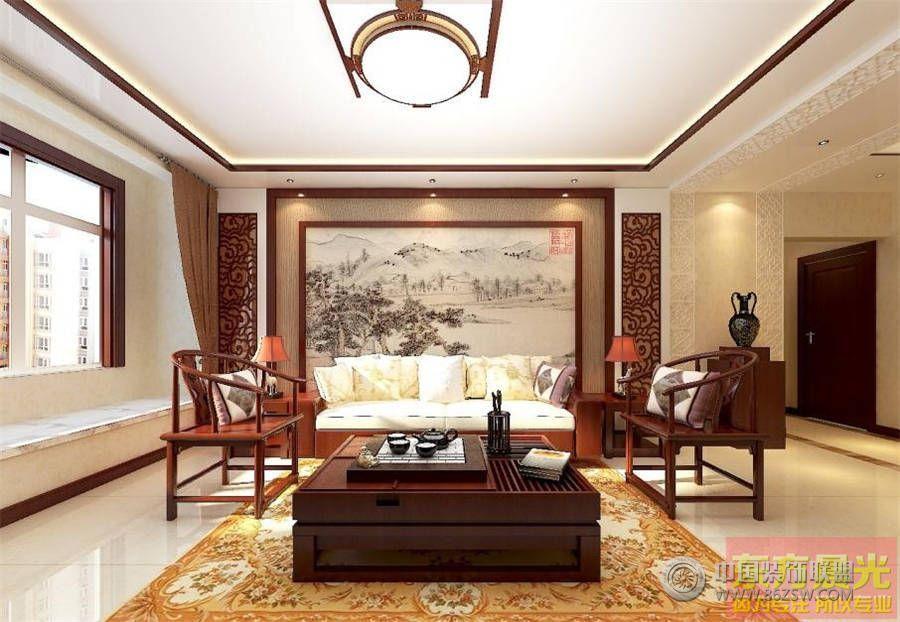 简约新中式别墅设计 餐厅装修效果图 -简约新中式别墅设计 餐厅装修图高清图片