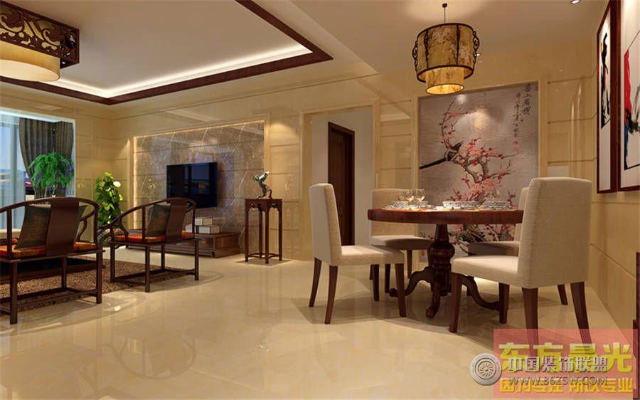 新中式风格别墅设计-餐厅装修效果图-八六(中国)装饰