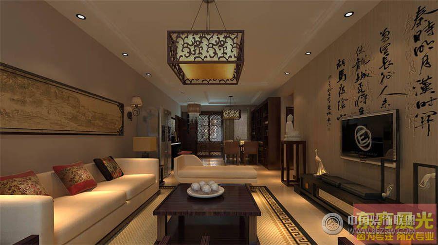 简洁大方中式别墅设计效果图餐厅装修图片