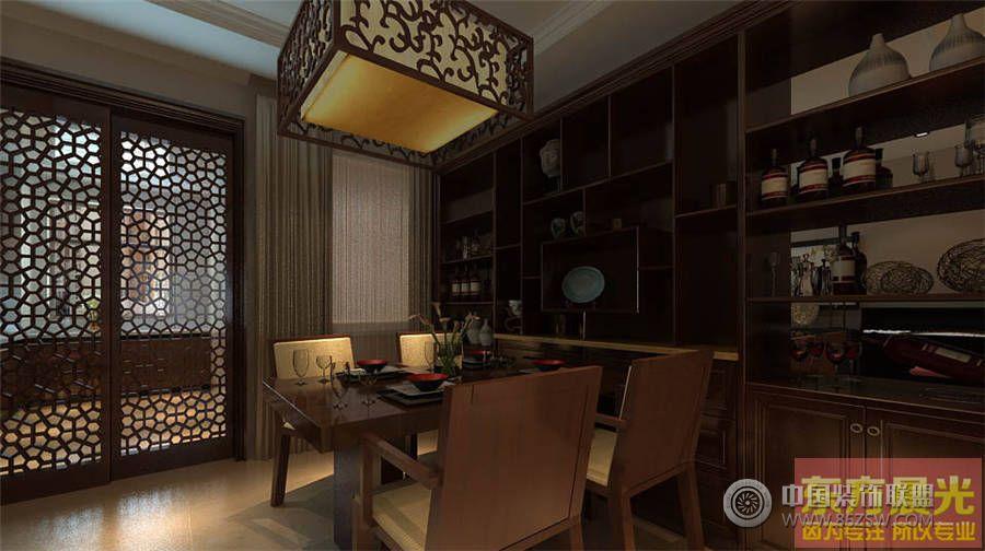 简洁大方中式别墅设计效果图-餐厅装修图片   > 简洁大方中式