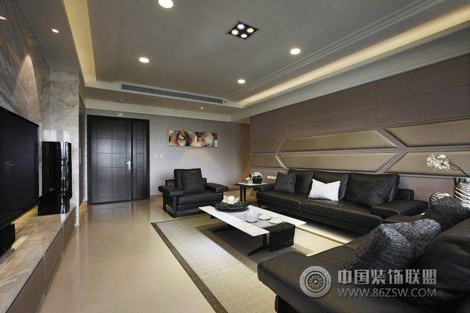 136平現代時尚公寓-客廳裝修效果圖-八六裝飾網裝修