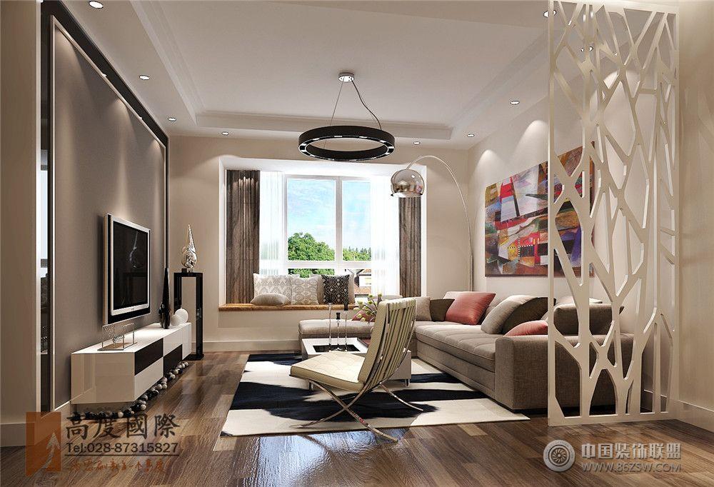 保利星语110平米-客厅装修效果图-八六装饰网装修