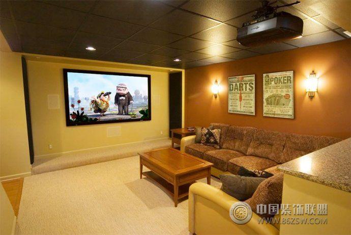 最新家庭影院设计-客厅装修效果图-八六(中国)装饰