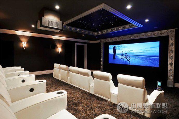 最新家庭影院設計-客廳裝修圖片
