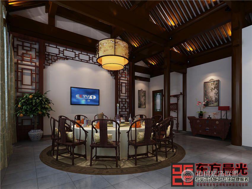 北京四合院中式会所设计 单张展示 会所装修效果图 -北京四合院中式会