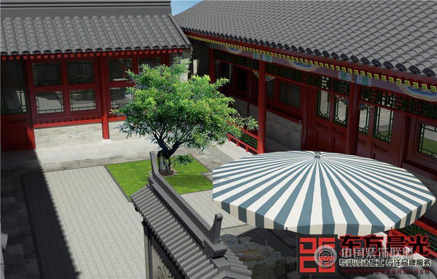 北京清雅中式四合院设计_中式大户型装修效果图_八六