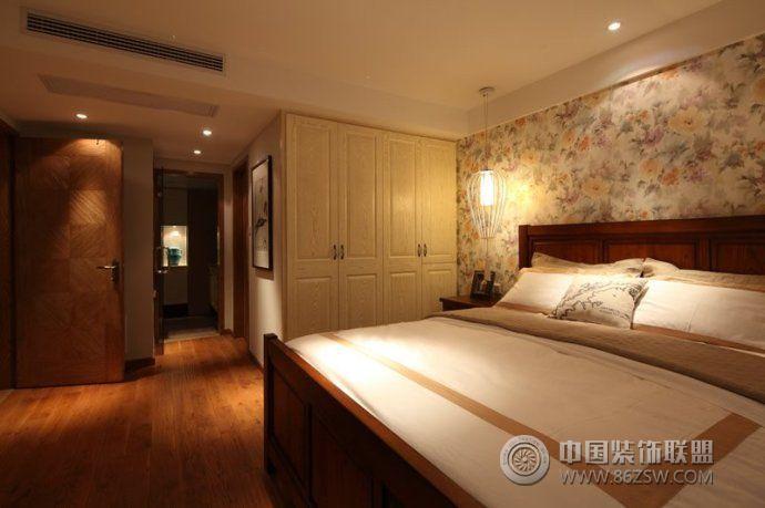100平美式乡村温馨雅居美式卧室装修图片