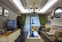 绿色经典欧式风格三居室