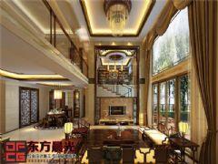 独栋别墅中式装修效果图中式风格别墅