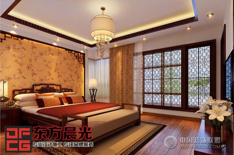 现代中式风格别墅设计 卧室装修效果图 八六 中国 装饰联