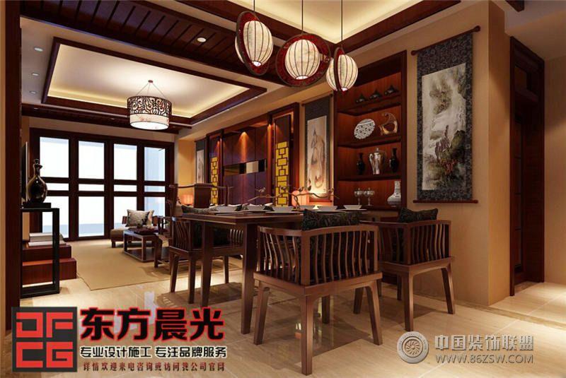 现代中式风格别墅设计餐厅装修图片