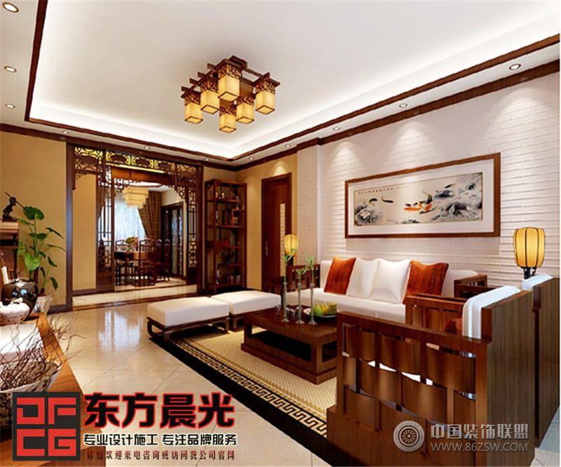 造型奇特三面各异的座椅沙发围绕客厅设立