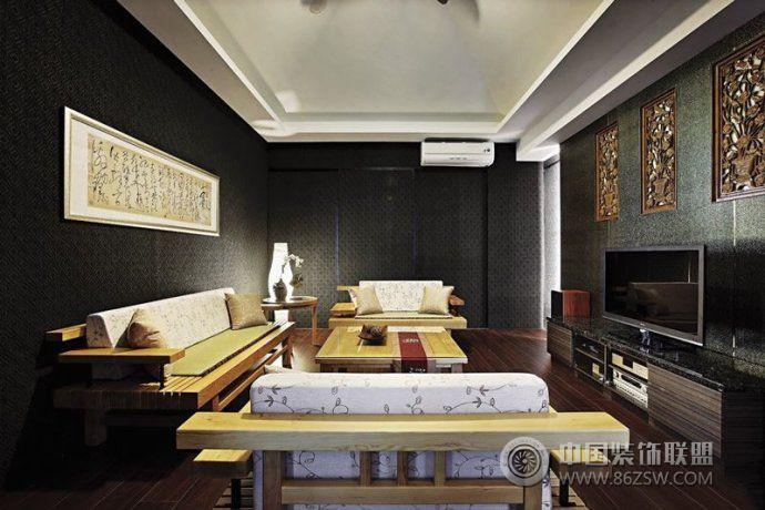 014最新中式客厅设计 餐厅装修效果图