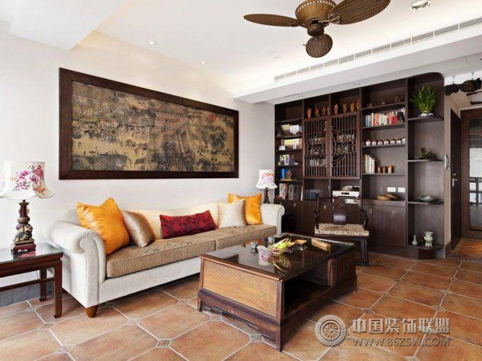 2014最新中式客厅设计 餐厅装修效果图 八六装饰网