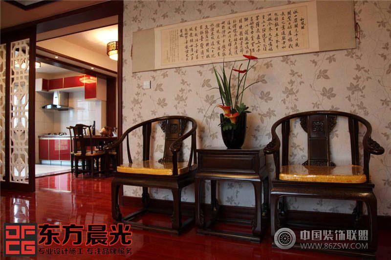 北京现代四合院别墅设计餐厅装修图片