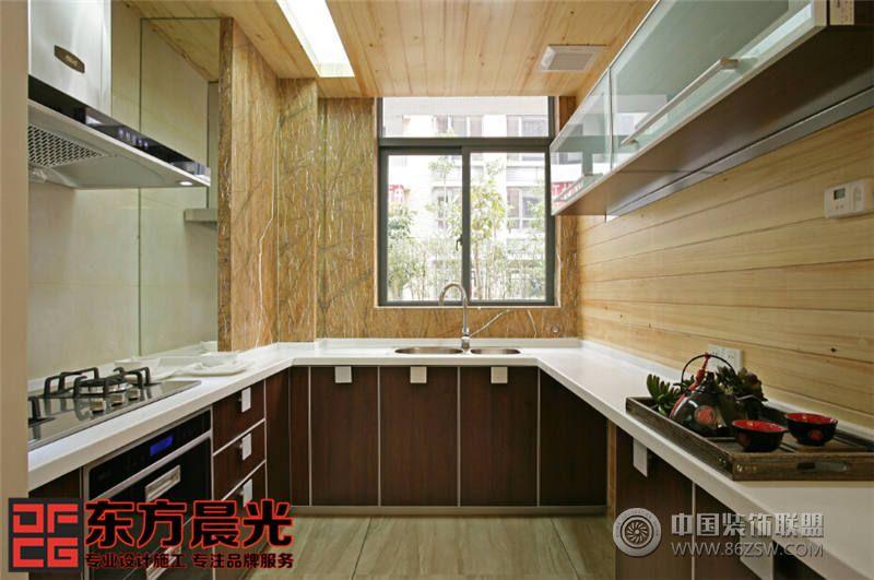 北京古典四合院装修设计中式风格厨房装修效果图