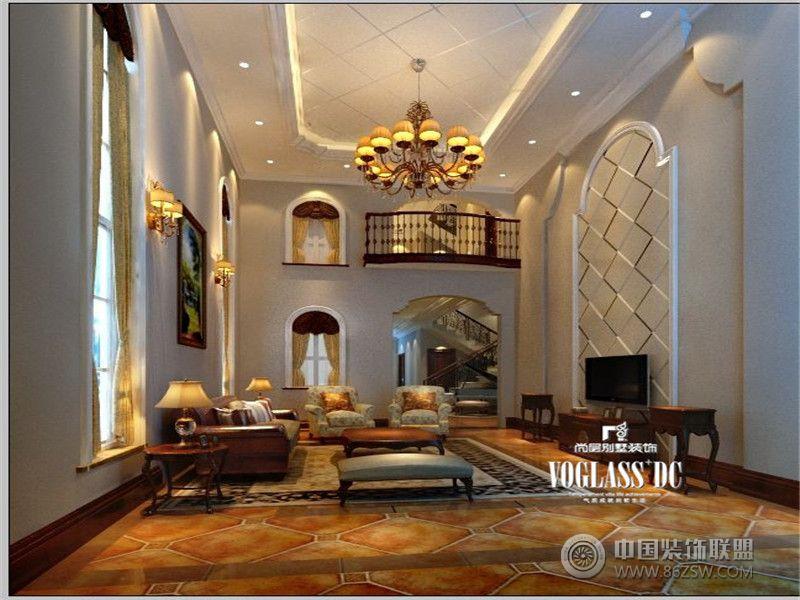 欧式风格客厅装修效果图