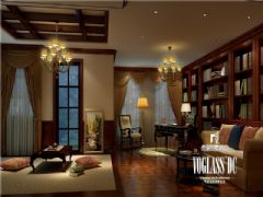 成都尚层装饰别墅装修复地御香山中式风格中式风格别墅