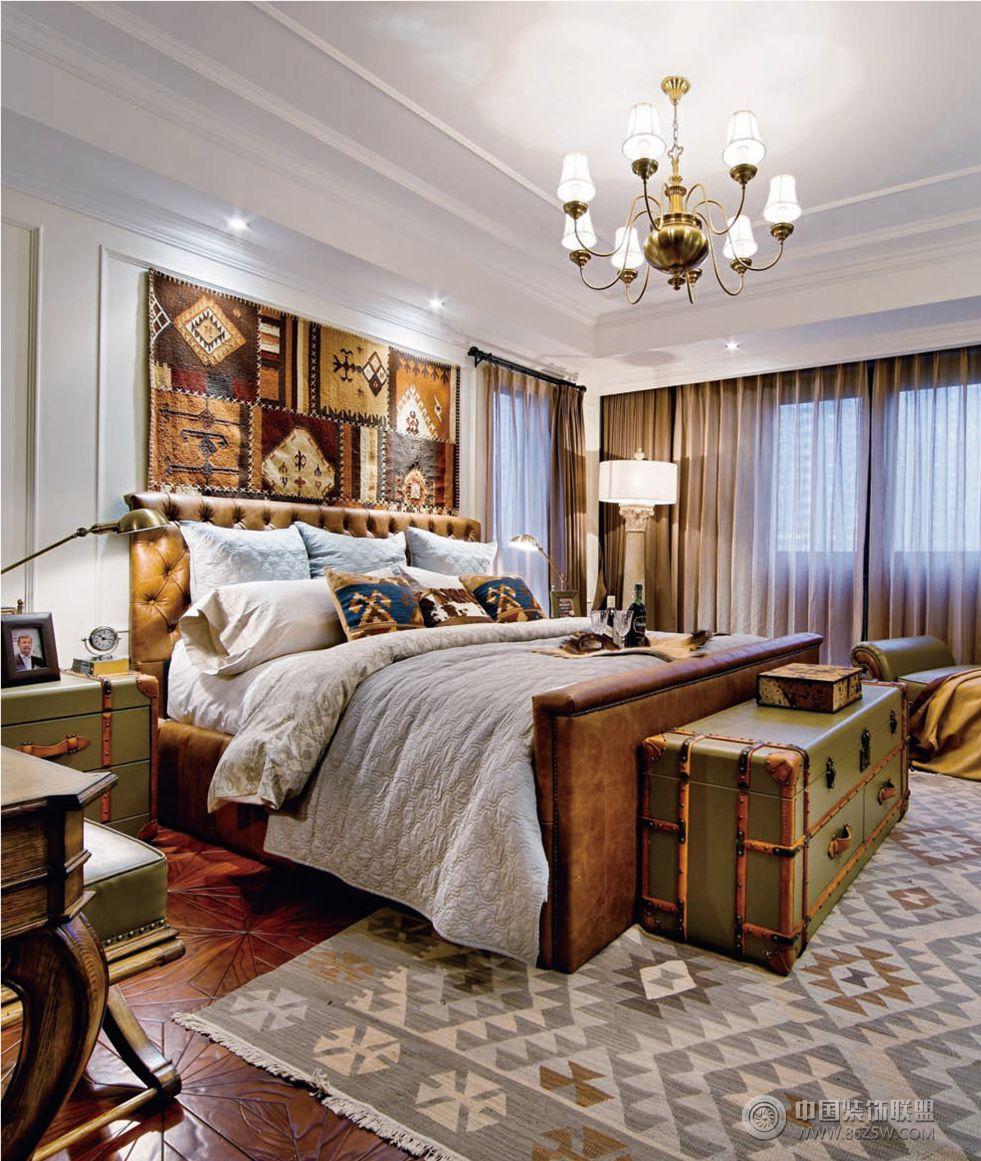 招商公园1872美式风格方案展示美式卧室装修图片