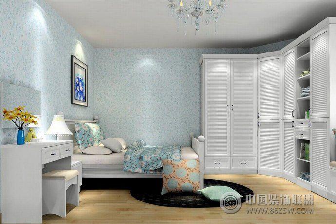 2014最新田园式卧室设计-卧室装修图片