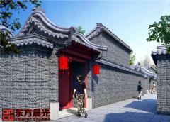 北京仿古门头设计中式风格大户型