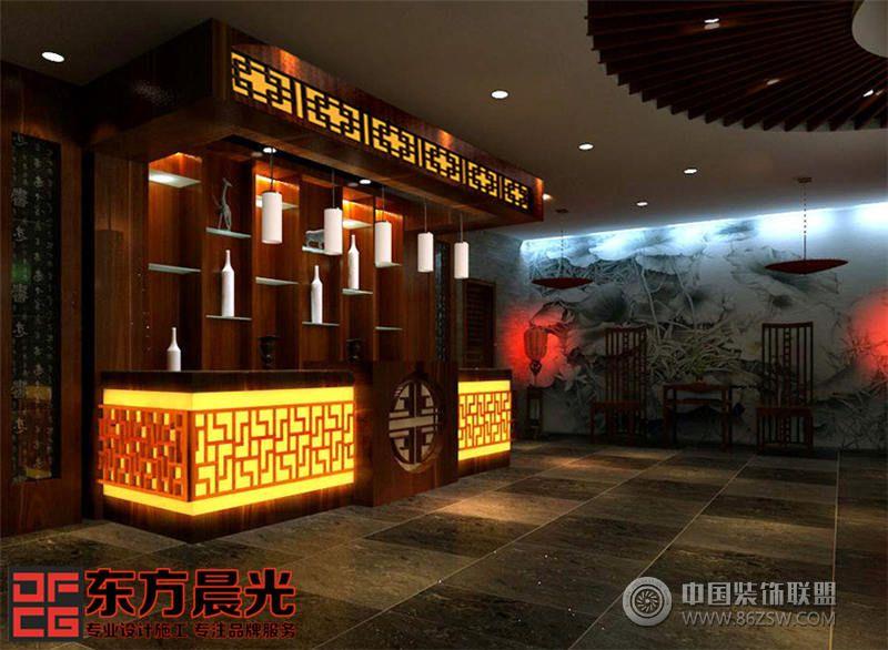 中式饭店门头效果图 餐馆装修图片