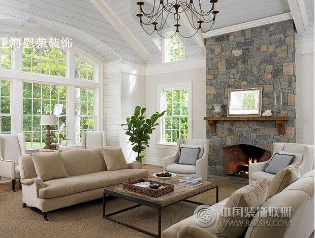 别墅温馨小阁楼美式客厅装修图片