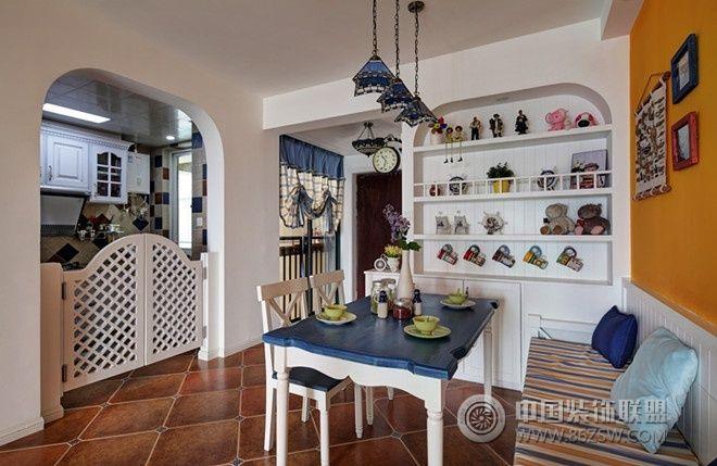 87平米地中海风格实景-餐厅装修图片