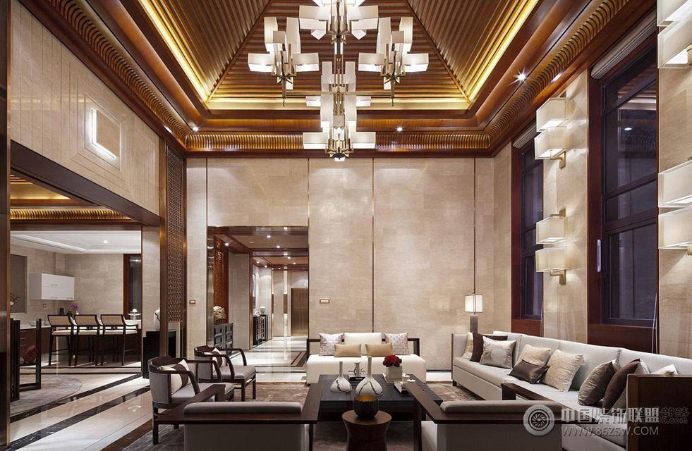 院子480平米新中式风格 客厅装修效果图 八六 中国 装饰联盟装修效