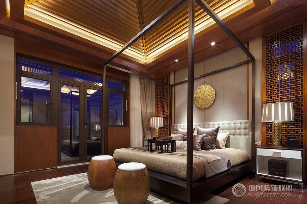 中国院子480平米新中式风格 餐厅装修效果图 -中国院子480平米新中式高清图片