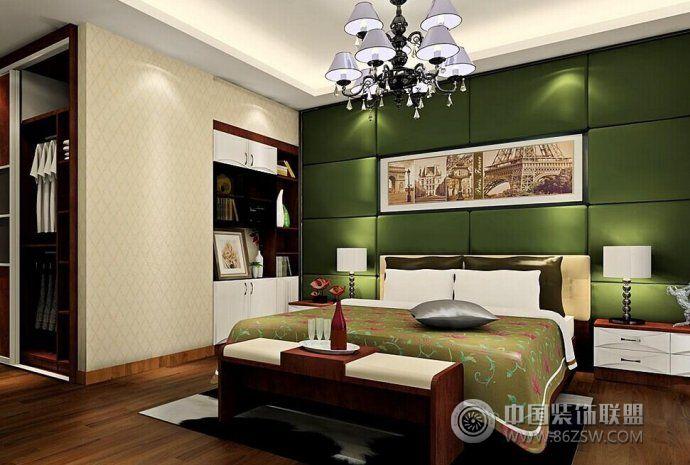 现代古典卧室软装设计-卧室装修效果图-八六(中国