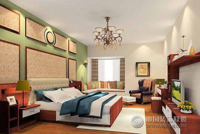 最新現代古典臥室軟裝設計-臥室裝修效果圖-八六