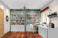 最新时尚书房色彩搭配设计