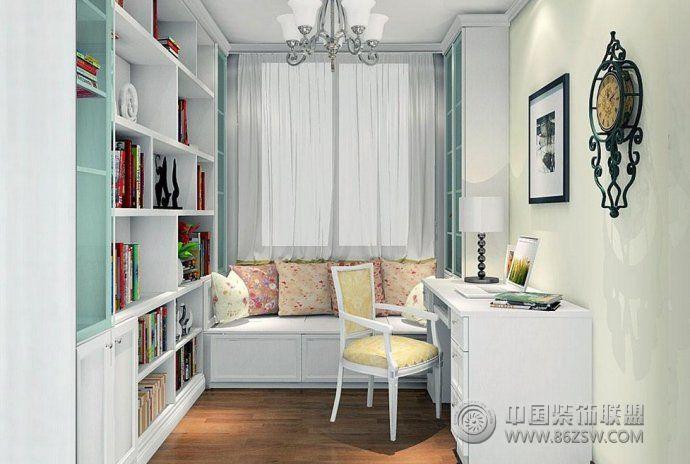 最新时尚书房色彩搭配设计-整套大图展示-风格装修图
