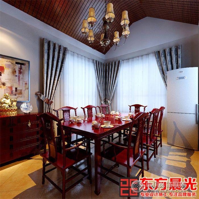 北京中式别墅装修效果图餐厅装修图片