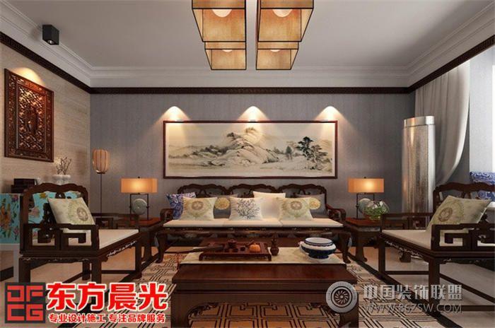 中式别墅家装效果图 餐厅装修效果图