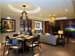 成都尚层装饰别墅装修蓝光1881港式风格案例分析地中海风格三居室