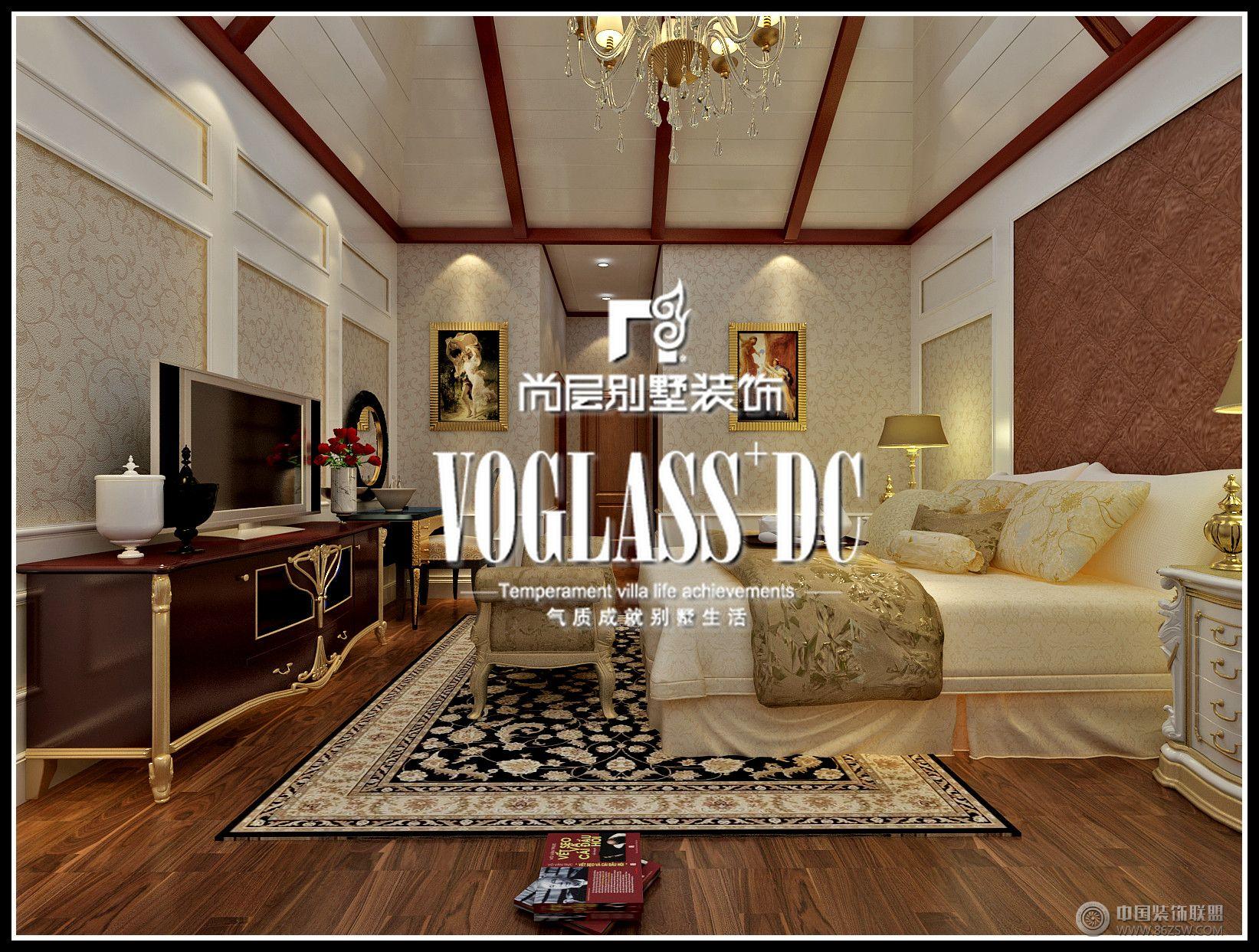 成都尚层装饰别墅装修领域欧式风格案例-卧室装修图片