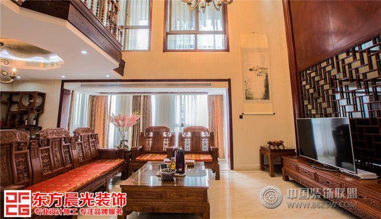 北京古典别墅室内设计中式客厅装修图片