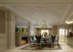 橡樹瀾灣別墅裝修 法式新古典 重慶天古裝飾