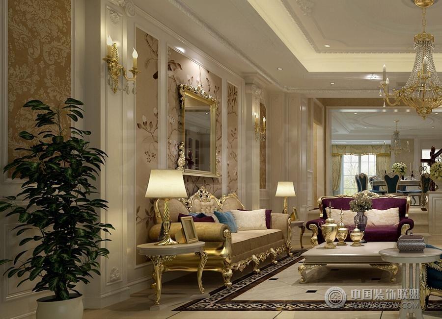 大气新欧式客厅装修罗马柱
